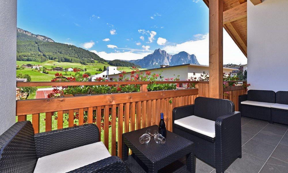 Ferienwohnung Kastelruth - Balkon